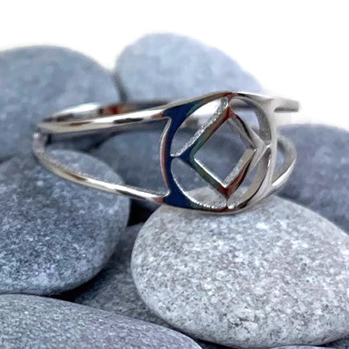Stainless Steel Narcotics Anonymous Ring