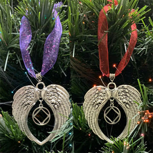 Narcotics Anonymous Angel Wings Ornament