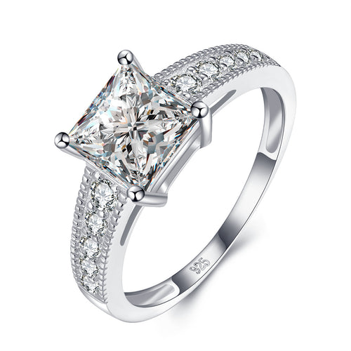 """Bella"" Classic Princess Ring in Sterling Silver"