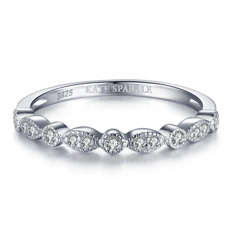 """Tris"" Classic Stackable Ring Band in Sterling Silver"
