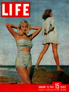 "Original 1947 ""Resort Fashions"" Life Magazine Cover"