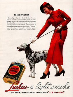 1936 Lucky Strike Cigarettes Ad