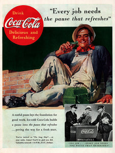 Original 1937 Coca-Cola Soda Ad
