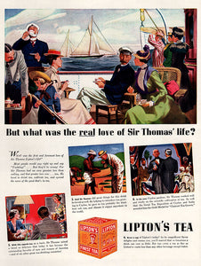 Original 1938 Lipton's Tea Ad