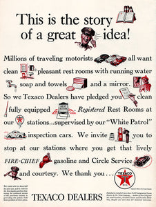 Original 1939 Texaco Dealers Ad