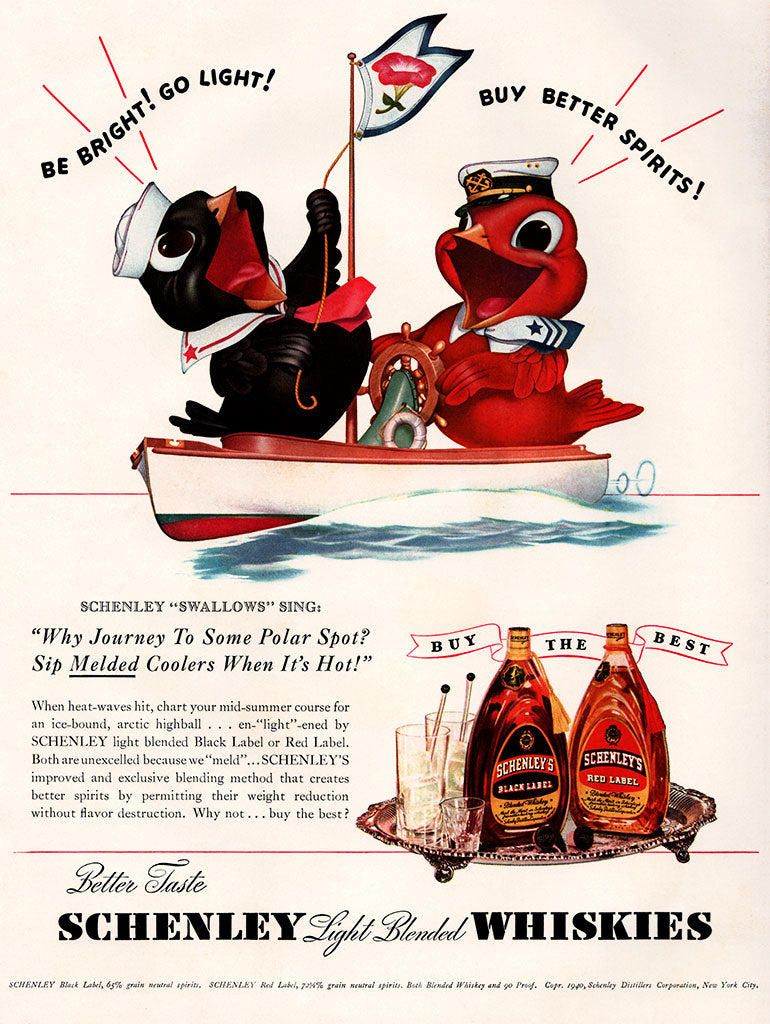 Original 1940 Schenley Whiskey Ad