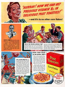 1940 Post Toasties Cereal Ad
