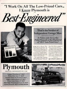 Original 1941 Plymouth Car Ad