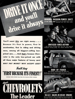 1941 Chevrolet Car Ad
