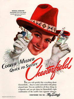 1941 Chesterfield Cigarettes Ad