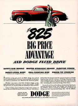 1941 Dodge Car Ad