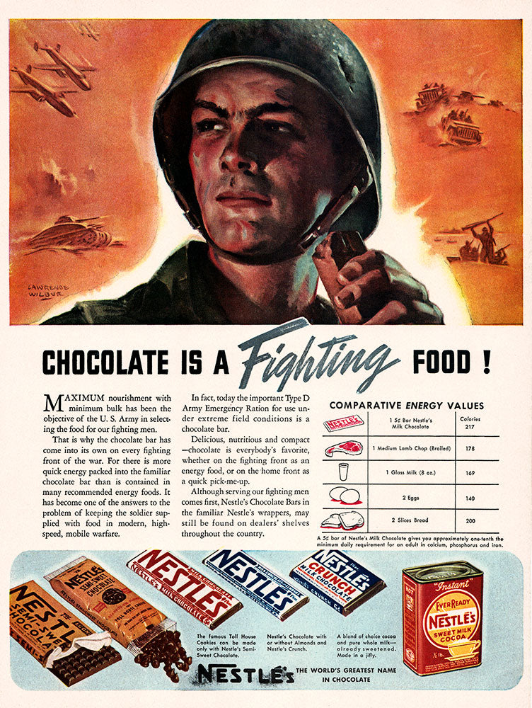 Original 1942 Nestle's Chocolate Ad