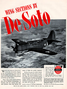 1944 DeSoto Wing Sections Ad