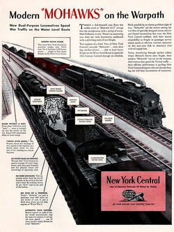 1944 Mohawk Trains Ad