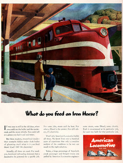 1944 American Locomotive Train Ad