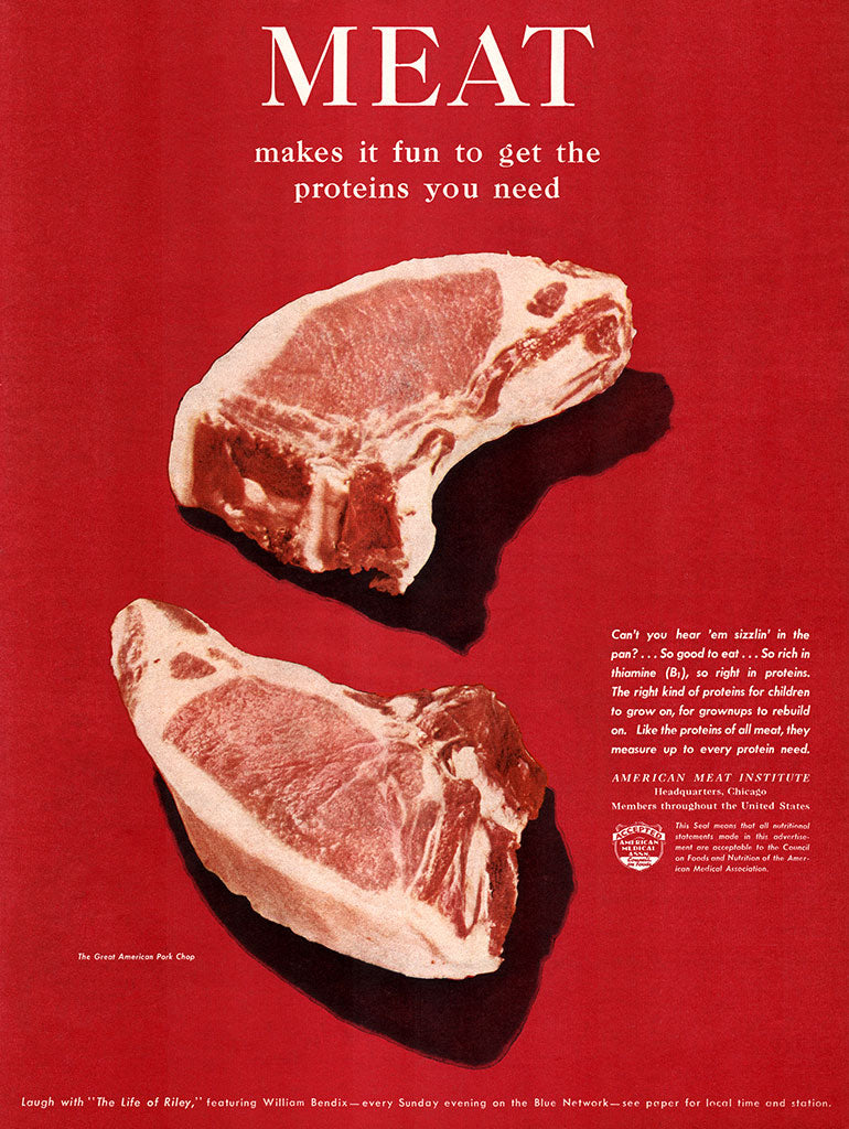 Original 1945 Meat (Pork Chops) Ad