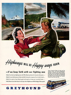 1945 Greyhound Bus Ad
