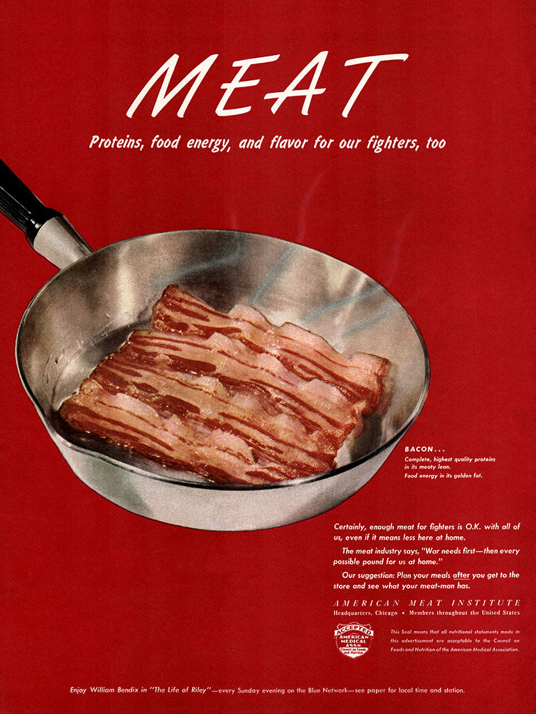 1945 Meat (Bacon) Ad