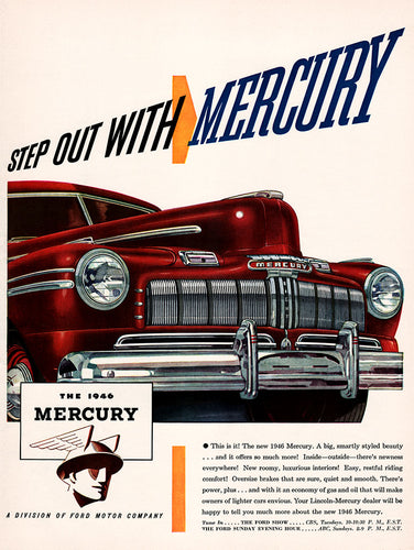 Original 1945 Mercury Car Ad