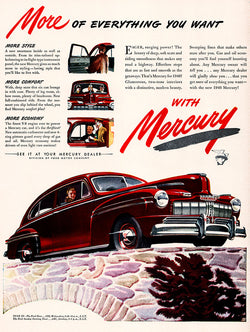 1946 Ford Mercury Car Ad