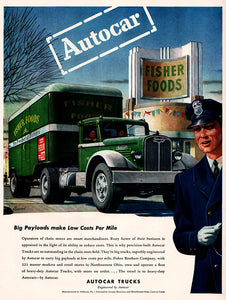 Original 1946 Autocar Trucks Ad
