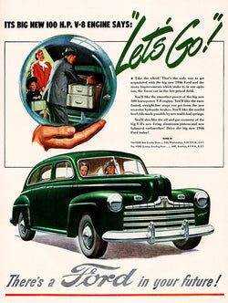 1946 Ford Car Ad