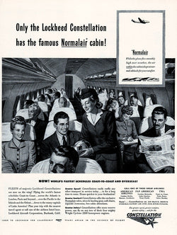 1946 Lockheed Constellation Aircraft Ad