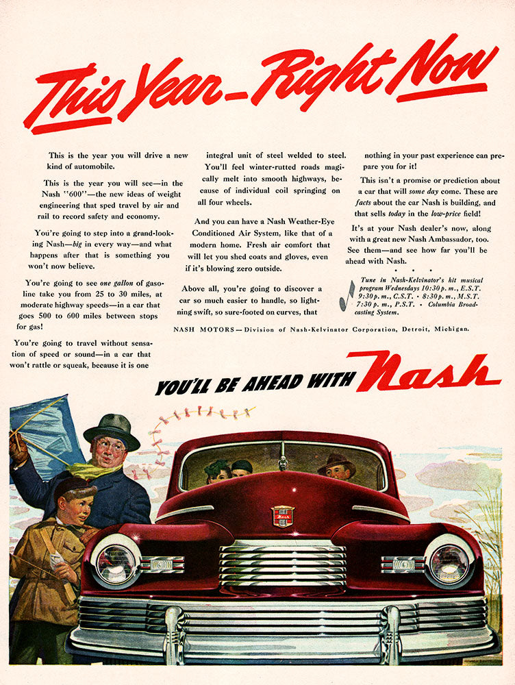 Original 1946 Nash Car Ad