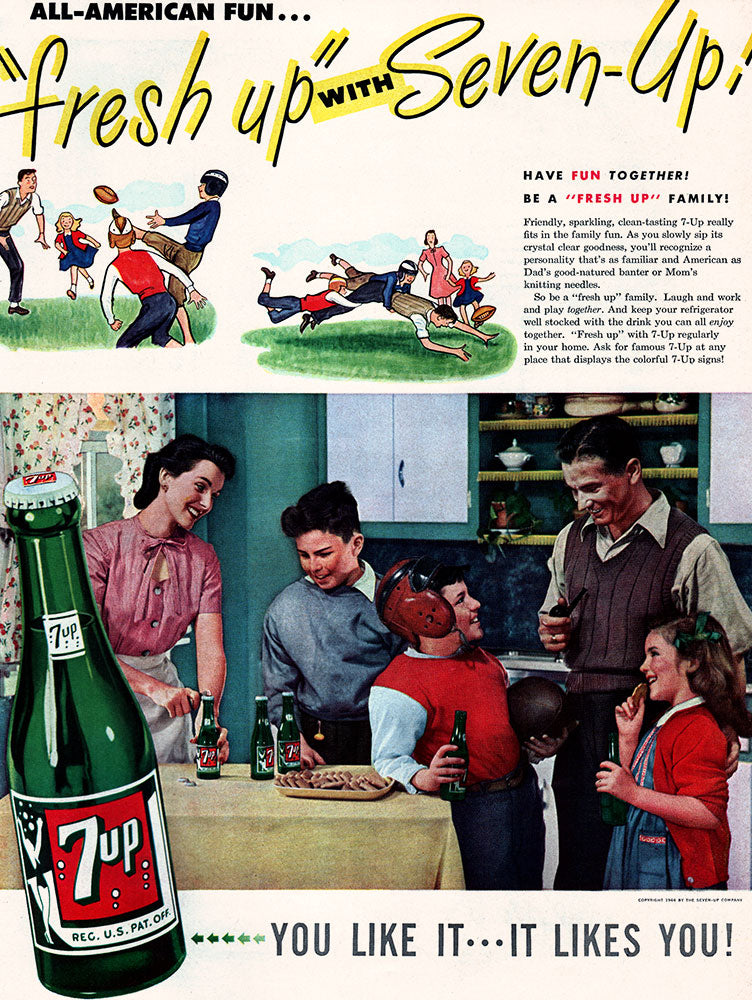 1946 Seven-Up Soda Ad