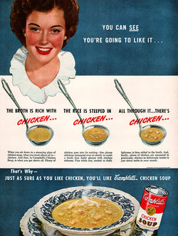 1947 Campbell's Soup Ad