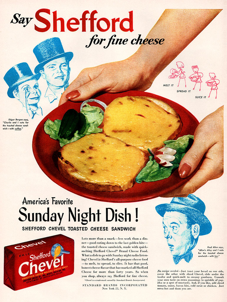 Original 1947 Shefford Cheese Ad