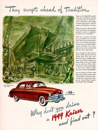 Original 1948 Kaiser Car Ad