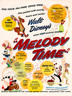 1948 Melody Time Movie Ad