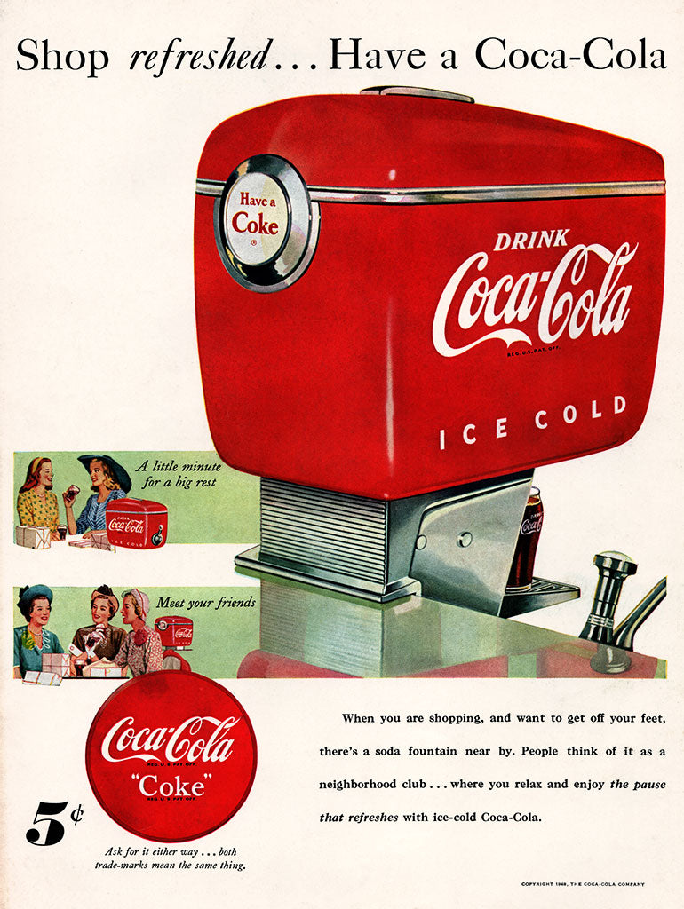 Original 1948 Coca-Cola Soda Ad