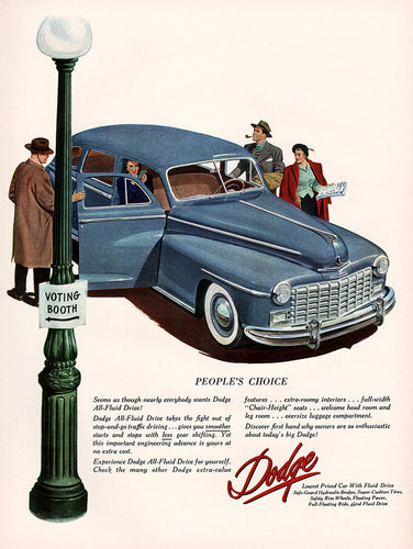 Original 1948 Dodge Car Ad
