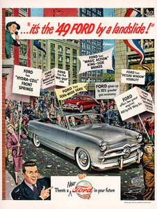 Original 1948 Ford Car Ad