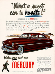 Original 1948 Mercury Car Ad