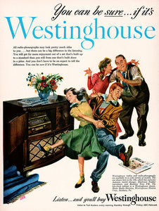 Original 1948 Westinghouse Radio-Phonograph Ad