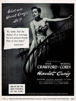 1950 Harriet Craig Movie Ad