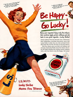 1950 Lucky Strike Cigarettes Ad