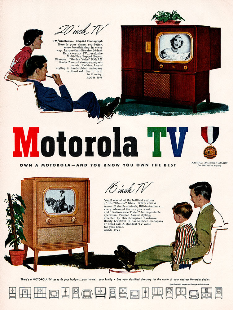 Original 1950 Motorola TV Ad
