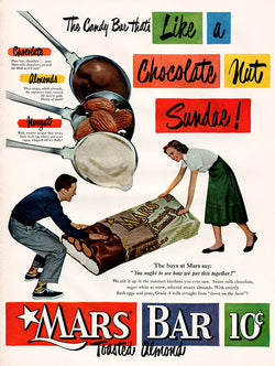 1950 Mars Bar Candy Ad