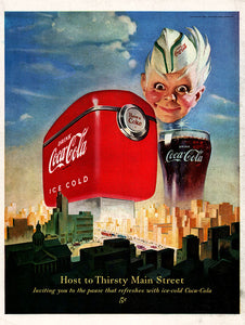 Original 1950 Coca-Cola Soda Ad
