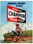1951 Champion Spark Plugs Ad