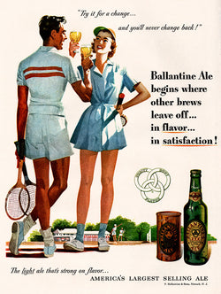 1951 Ballantine Beer Ad
