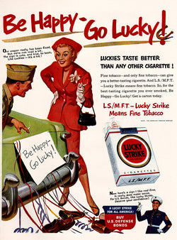1951 Lucky Strike Cigarettes Ad