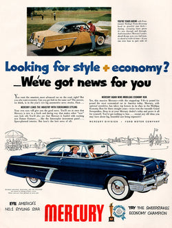 1952 Ford Mercury Car Ad