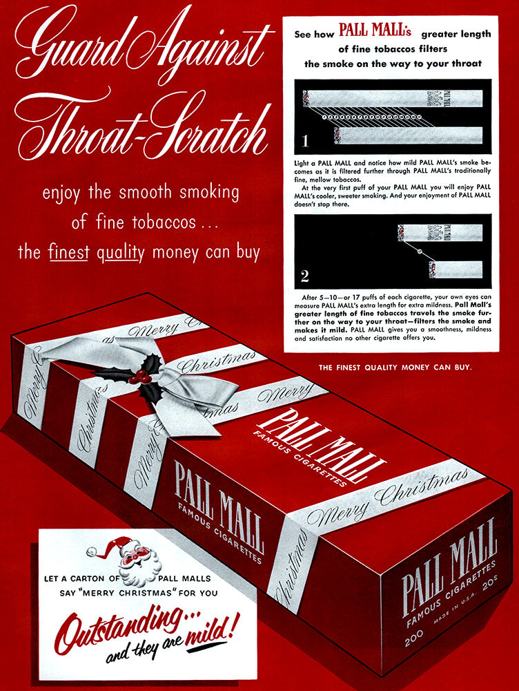 Original 1952 Pall Mall Cigarettes Ad