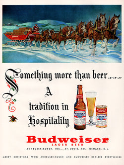 1952 Budweiser Beer Ad