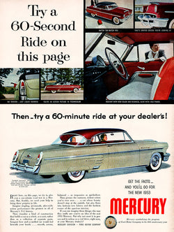 1953 Ford Mercury Car Ad
